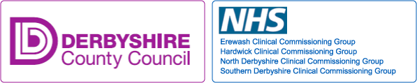 Derbyshire County Council Logo and NSH Derbyshire Logo